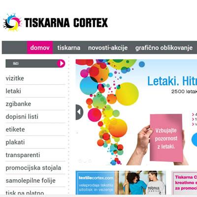 Tiskarna Cortex - spletni marketing