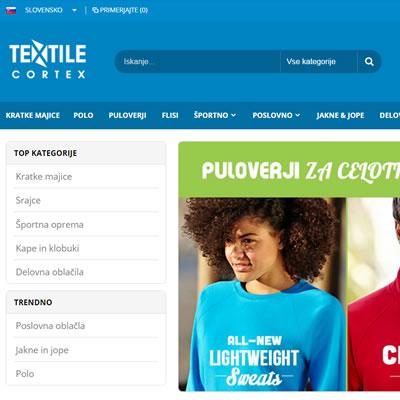 Textilecortex.com - spletna trgovina in spletni marketing